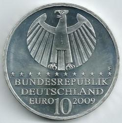 Moeda > 10euro, 2009 - Alemanha  (400 Anos das Leis do Movimento Planetário de Johannes Kepler) - obverse
