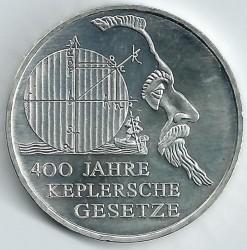 Moeda > 10euro, 2009 - Alemanha  (400 Anos das Leis do Movimento Planetário de Johannes Kepler) - reverse