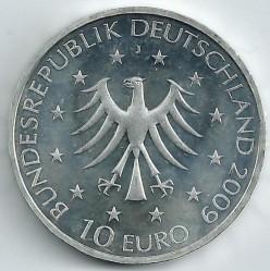 Moeda > 10euro, 2009 - Alemanha  (Centenário do Nascimento da Jornalista Marion Gräfin Dönhoff ) - obverse