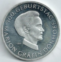 Monēta > 10eiro, 2009 - Vācija  (100th Anniversary - Birth of Marion Dönhoff) - obverse