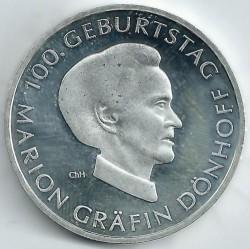 Moeda > 10euro, 2009 - Alemanha  (Centenário do Nascimento da Jornalista Marion Gräfin Dönhoff ) - reverse