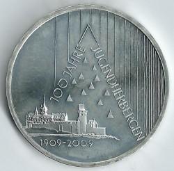 Moeda > 10euro, 2009 - Alemanha  (Centenário das Pousadas da Juventude ) - reverse