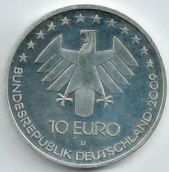 سکه > 10یورو, 2009 - آلمان  (100th Anniversary of International Aerospace Expo) - obverse