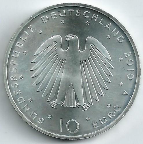 10 Euro 2010 Deutsche Wiedervereinigung Deutschland Münzen Wert