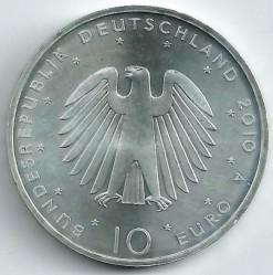 Moeda > 10euro, 2010 - Alemanha  (20 Anos da Reunificação da Alemanha) - obverse