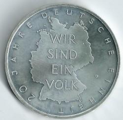 Moeda > 10euro, 2010 - Alemanha  (20 Anos da Reunificação da Alemanha) - reverse