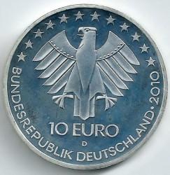 Monēta > 10eiro, 2010 - Vācija  (175th Anniversary of German railway) - obverse