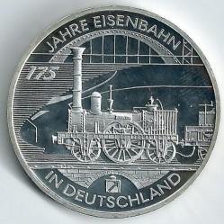 Monēta > 10eiro, 2010 - Vācija  (175th Anniversary of German railway) - reverse