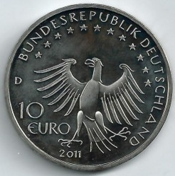 Moeda > 10euro, 2011 - Alemanha  (500 Anos de Till Eulenspiegel) - reverse