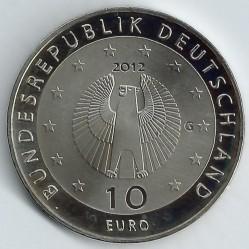 Moneda > 10euros, 2012 - Alemania  (50º Aniversario de Welthungerhilfe alemán) - obverse