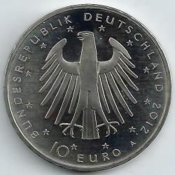 Moeda > 10euro, 2012 - Alemanha  (300 Anos do Nascimento de Friedrich II, Rei da Prússia ) - obverse