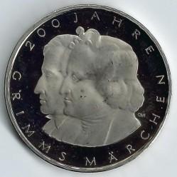 Moneda > 10euro, 2012 - Alemanya  (200è aniversari - Contes de fades dels germans Grimm) - reverse