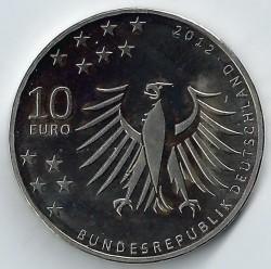 Moneda > 10euros, 2012 - Alemania  (150 Aniversario - Nacimiento de Gerhard Hauptmann) - obverse