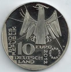Moneda > 10euros, 2012 - Alemania  (100 Aniversario de la Biblioteca Nacional de Alemania) - obverse