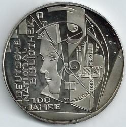 Moneda > 10euro, 2012 - Alemanya  (100è aniversari - Biblioteca Nacional d'Alemanya) - reverse