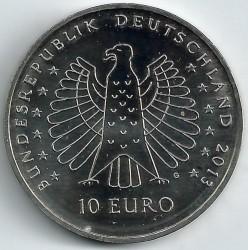 Monēta > 10eiro, 2013 - Vācija  (125th Anniversary of electrocution -  Heinrich Hertz) - obverse