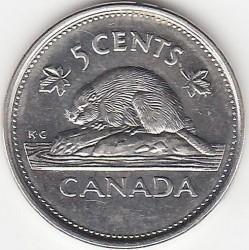 Монета > 5цента, 2002 - Канада  (50th Anniversary - Succession of Queen Elizabeth II) - reverse