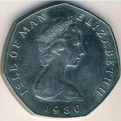 Moneta > 50pence, 1980 - Isola di Man  - obverse