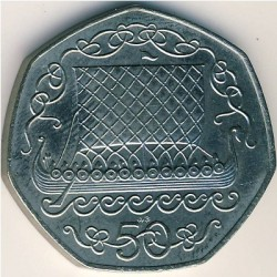 Moneta > 50pence, 1980 - Isola di Man  - reverse