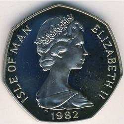Moneta > 50pence, 1981-1984 - Isola di Man  - obverse