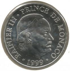 Moneda > 100francos, 1999 - Mónaco  (50 aniversario - Reinado del Príncipe Rainiero III) - obverse