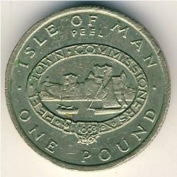 Монета > 1фунт, 1983 - Острів Мен  - reverse