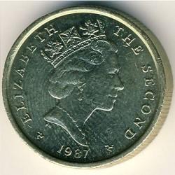 Монета > 1паунд, 1987 - Остров Ман  - obverse