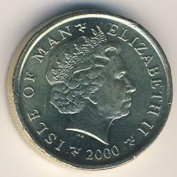 Moneta > 1sterlina, 2000-2003 - Isola di Man  - obverse