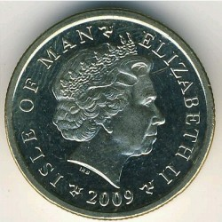 Moneta > 1 sterlina, 2004-2016 - Isola di Man  - obverse