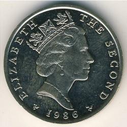 Moneta > 2sterline, 1986-1987 - Isola di Man  - obverse