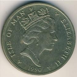 Монета > 2фунта, 1988-1993 - Острів Мен  - obverse