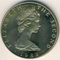Монета > 5фунтів, 1983 - Острів Мен  - obverse