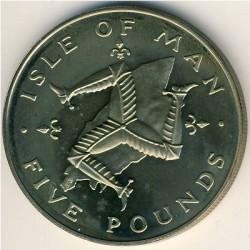 Монета > 5фунтів, 1983 - Острів Мен  - reverse