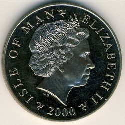 Moneta > 5 sterline, 2000-2003 - Isola di Man  - obverse
