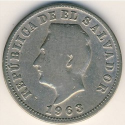 Νόμισμα > 5Σεντάβος, 1939-1974 - Ελ Σαλβαδόρ  - obverse