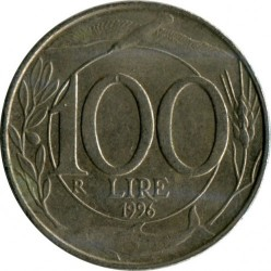 Pièce > 100lires, 1993-2001 - Italie  - obverse