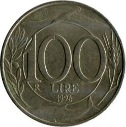 Pièce > 100lires, 1993-2001 - Italie  - reverse