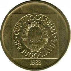 Νόμισμα > 20Δηνάρια, 1988-1989 - Γιουγκοσλαβία  - obverse