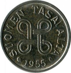 Münze > 5Mark, 1955 - Finnland  - obverse