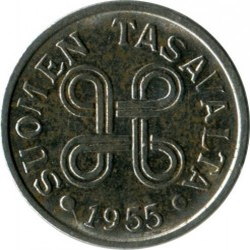 Münze > 5Mark, 1955 - Finnland  - reverse