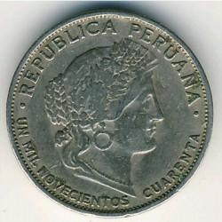 Монета > 5сентавос, 1918-1941 - Перу  - obverse