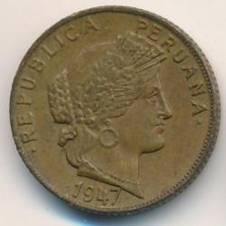 Moneda > 10centavos, 1947-1951 - Perú  - obverse