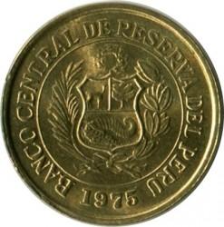 Moneda > 10centavos, 1975 - Perú  (Sin flor en el reverso) - obverse