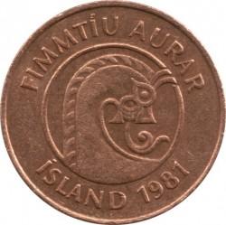 Mynt > 50aurar, 1981 - Island  - obverse