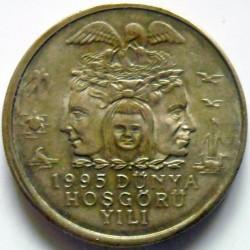Moneta > 25.000lire, 1995 - Turchia  (Protezione ambientale) - obverse