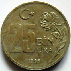 Moneta > 25.000lire, 1995 - Turchia  (Protezione ambientale) - reverse