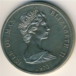 Moneta > 25pence, 1972 - Isola di Man  (25° Anniversario - Matrimonio della Regina Elisabetta II e del Principe Filippo) - obverse