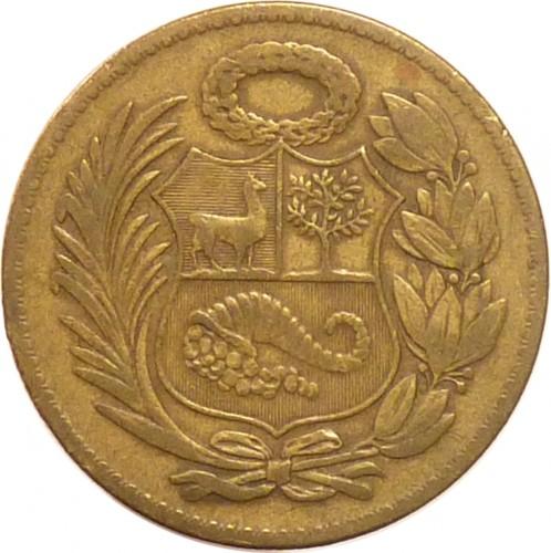 Coin 1 Sol 1943 1965 Peru Obverse