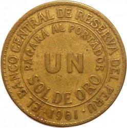 Moneta > 1sol, 1943-1965 - Peru  - reverse
