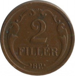 Монета > 2филлера, 1926-1940 - Венгрия  - obverse